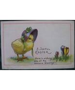 Linen Era Easter Chick Post Card - $7.00