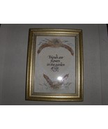 Handmade Paper and Dried Flower Friends Framed Picture - $9.95