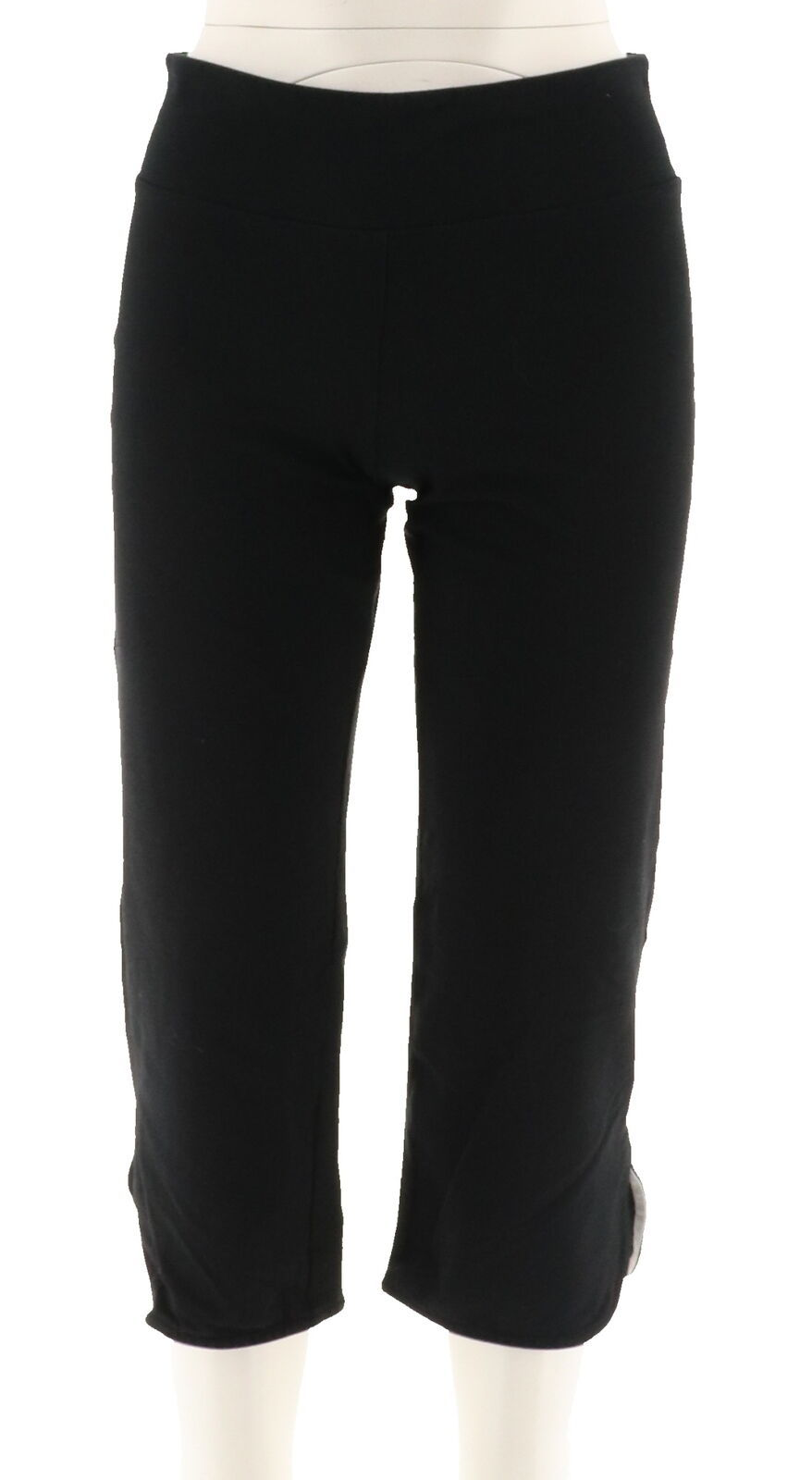 Women with Control Petite Tummy Control Crop Pants Black PM NEW A278777
