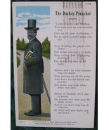 Vintage Post Card, Linen Era, The Darkey Preacher - $12.00