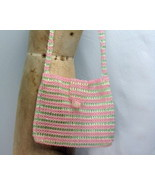 Pink and Green Beaded Bag - $12.50