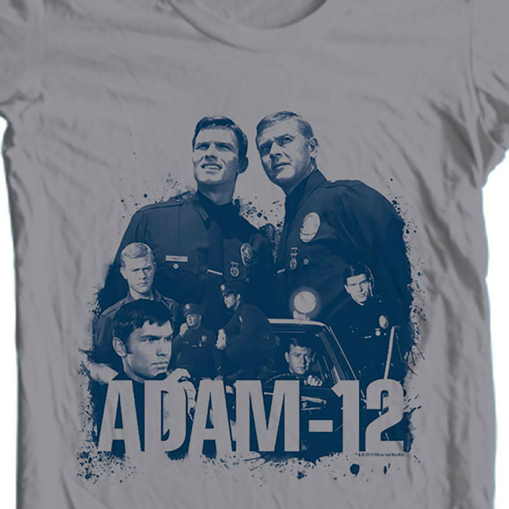 Adam 12 T-shirt vintage style police tv show 1960's 1970's graphic tee NBC502