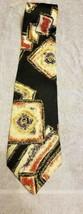 Zylos George Machado Mens Tie 100% Silk Black Yellow Purple Red Squares ... - $10.94