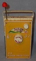 Fisher Price Music Box TV Radio Toy 1968 plays Jack and Jill - $10.00