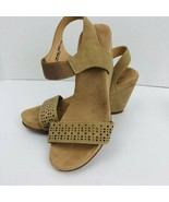 CL by Chinese Laundry Women's Tatum Wedge Heels Tan Sandal Size 8 M Slip On - $59.39