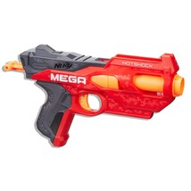 Nerf N-Strike Mega Hotshock Blaster 2 Darts Hasbro Orange Gray Toy Gun - $11.40