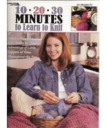 10  20  30 Minutes to Learn to Knit Leisure Arts No 3231 - $5.00