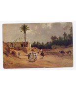 c1910 - Oasis with Date Palms, North Africa - Used - $4.99