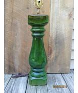 Green Terracotta Baluster lamp - $175.00