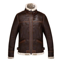 Men's Stand Collar Brown PU Leather Leon Jacket Coat Resident Evil Outer... - $79.00