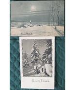 Pair of Vintage Italian Christmas Post cards - $13.00