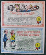 Pair of Topps Chewing Gum, Humorous Postcards, Insults - $13.00