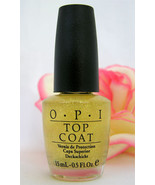 New! OPI Glitter Bit Of Music Top Coat Gold Glitter Nail Polish - $9.99