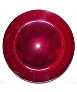 Plate (1 ea) Cristal Cris D'Arques Durand Antique Ruby Red Glass Dinner Plates 1 - $15.00