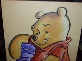 "Walt Disney 'Winnie The Pooh' Handpainted Original Cartoon Unsigned 16"" X 23"" - $50.00"