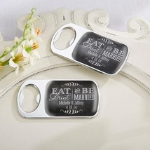 Personalized Silver Bottle Opener - Eat Drink & Be Married(24 Pcs)  - $75.99