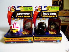 Angry Birds Star Wars Power Battlers Darth Vader Pig & Luke Skywalker Bi... - $16.50