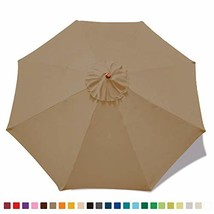 MASTERCANOPY 30+ Colors Replacement Market Umbrella Canopy for 9ft 8 Rib... - £13.80 GBP