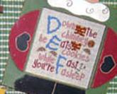 Winter Alphabet ABC,DEF,GHI stitch chart Mt Forest Framework