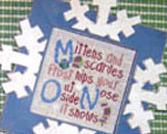 Winter Alphabet JKL MNO PQR stitch chart Mt Forest Framework
