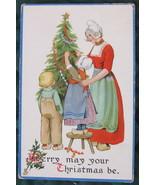 Raphael Tuck & Sons, Dutch Family Christmas Post Card - $7.00