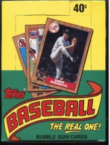 1987 1988 1989 TOPPS BASEBALL WAX BOX LOT Bonds RC