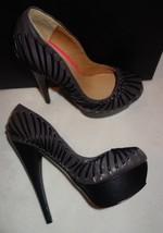 Leather M new Size 6 Holiday A L Platform amp; B 5 Grey Black Pump xOpa8B5w