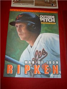 Cal RIPKEN ORIOLES 2131Ticket Photo Phone Baseball Card Mag