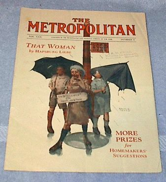 Primary image for Metropolitan Life Woman's Magazine ca. 1930 Edwin Tevis Cover