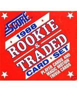 1988 SCORE ROOKIE TRADED BASEBALL SET biggio RC - $22.00