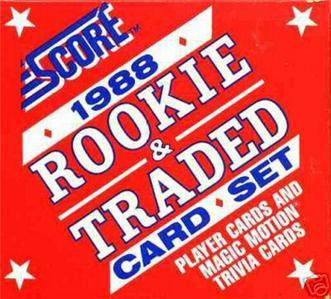1988 SCORE ROOKIE TRADED BASEBALL SET biggio RC