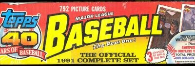 1991 Topps BASEBALL FACTORY SEALED Complete BOX SET