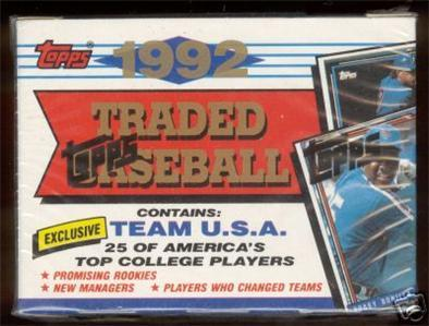 1992 TOPPS TRADED Baseball FACTORY Set Sealed Garciaparra rc