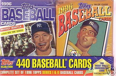 1996 TOPPS Complete Baseball Card Set MANTLE CEREAL BOX