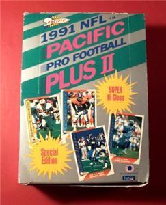 1991 Pacific Plus Series 2 Football BOX Brett Favre RC