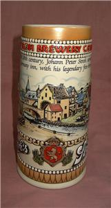 g4 Strohs Brewery Heritage Series II Tall Beer Stein Numbered Collectible
