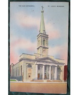 1948 Colourpicture Post Card of the Old Cathedral in St. Lou - $6.00