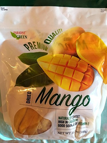 Primary image for Paradise Green Dried Mango Premium Quality 35 Oz (1 Pack)