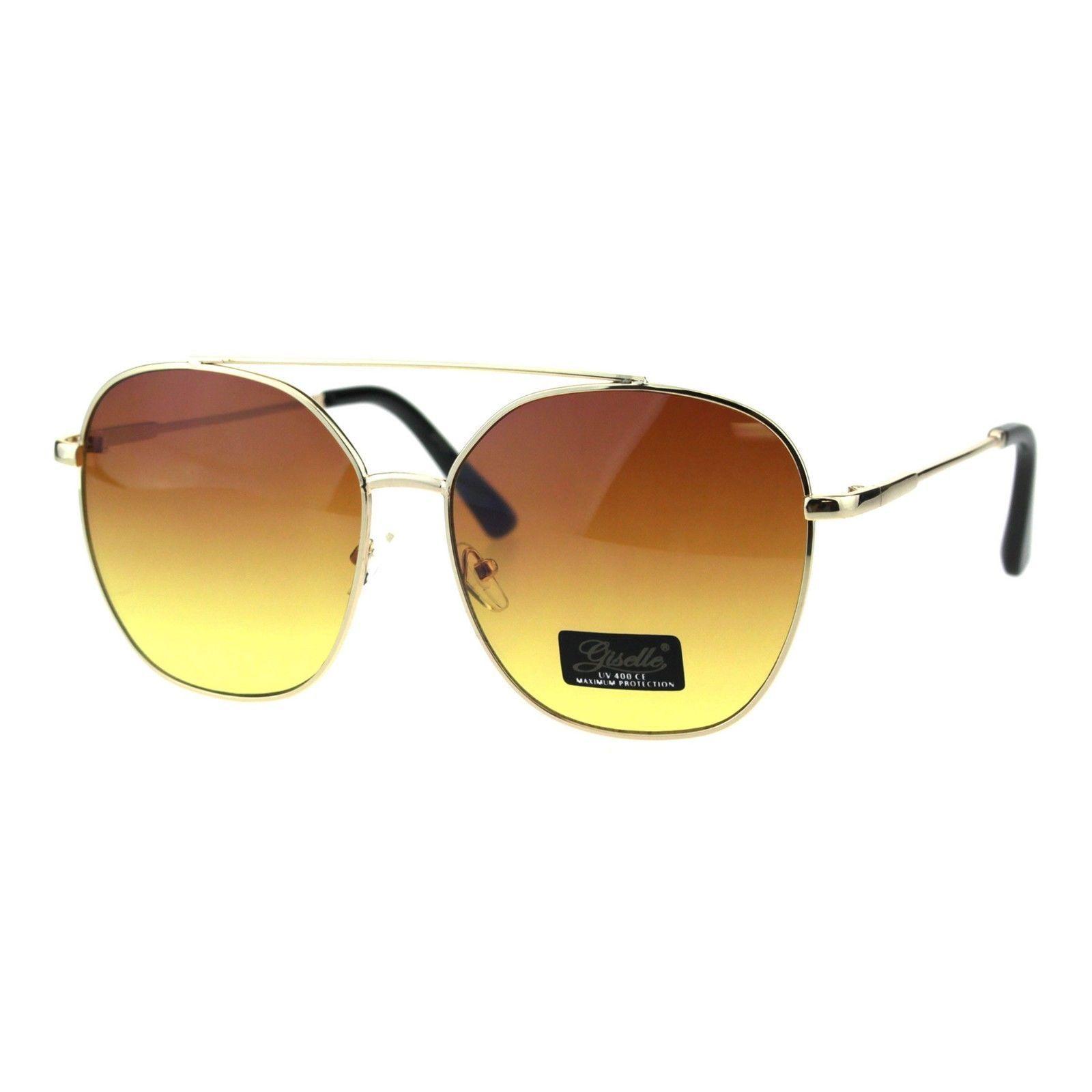 Womens Sunglasses Square Flat Top Bridge Fashion Aviators UV 400
