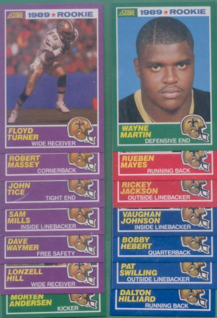1989 Score New Orleans Saints Football Team Set