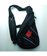 Soren Chest Sling Small Shoulder Bag Backpack Crossbody Black w Red Arrow Logo - $19.95