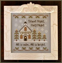 Silent Night christmas cross stitch chart Country Cottage Needleworks - $7.20