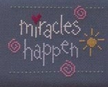 Miracles Happen Finished Cross Stitch framed 5x7