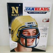 Navy Usna Football Fanheads Wearable Replica Helmet Ncaa Midshipmen Adult Os New - $14.49