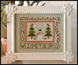 Winter Snow christmas cross stitch chart Country Cottage Needleworks - $7.20