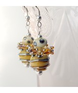 Handmade lampwork earrings.  - $34.99