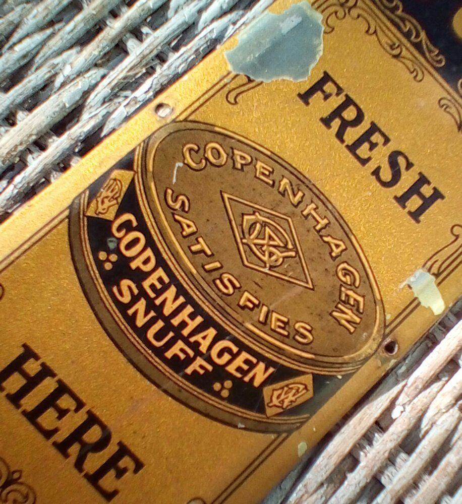 Vintage Tin Copenhagen Snuff Door Push and 50 similar items