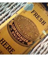 Vintage Tin Copenhagen Snuff Door Push (Pull) Plate.  599.  G-302 - $245.00