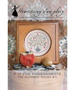 P is for Pomegranate cross stitch chart Heartst... - $9.00