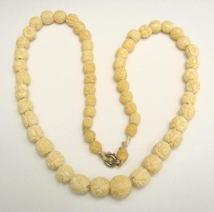 Vintage Carved Floral Bone Necklace And 13 Similar Items